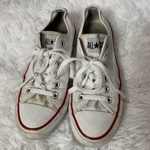 white converse all star low top shoes